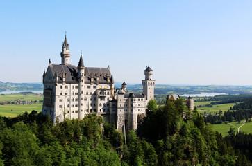 Beautiful view of castle Neuschwanstein in Germany