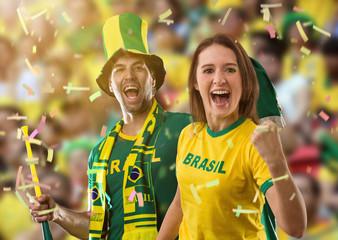 Brazilian couple Celebrating