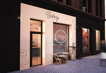 Bakery Terrace Mockup