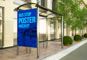 Vertical Bus Stop Mockup