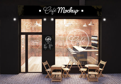 Cafe Storefront Mockup