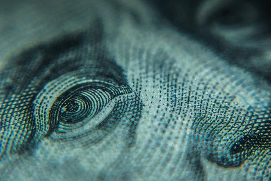 Macro One Hundred Dollar Bills
