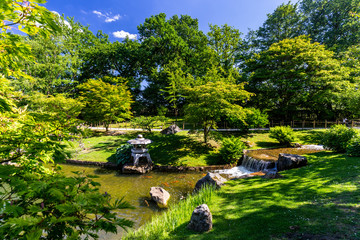 JapaneJapanese garden in Hasselt, Belgium during a sunny summer dayse garden in Hasselt, Belgium during a sunny summer day
