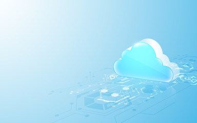 abstract cloud technology system sci fi design concept background