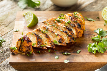 Homemade Grilled Chipotle Chicken Breast Wall mural
