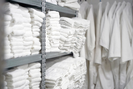Hotel linen cleaning services. Hotel laundry