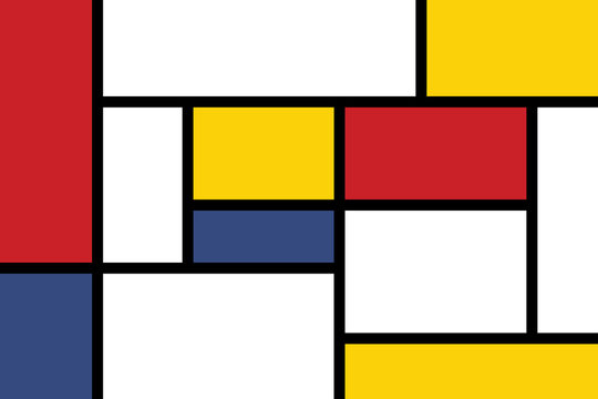 colorful rectangles; mondrian style