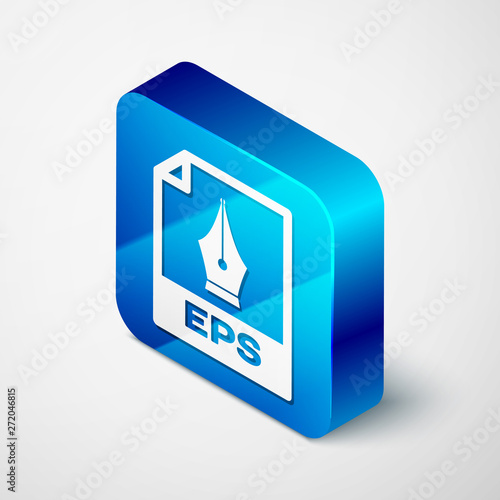 Isometric EPS file document icon  Download eps button icon