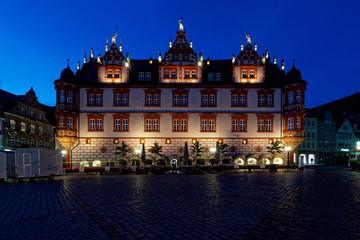 Coburg bei Nacht