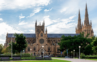 St Mary's Cathedral in Sydney, Australia, taken from Hyde Park