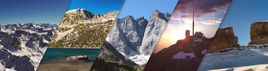 Lieux iconiques des Pyrénées française - Photo montage