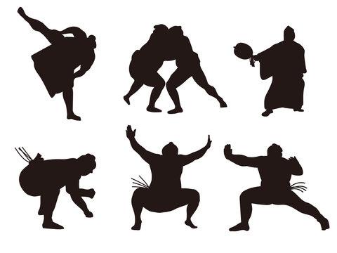 大相撲 シルエット1