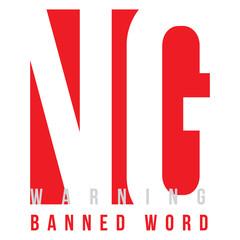 eps Vector image:Design to convey NG, warning