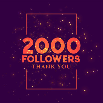 2000 followers congratulation template for social networks