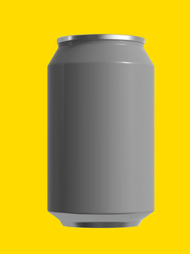 12 oz beer or soda can. Isolated high resolution 3D render.