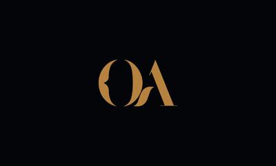 OA logo design template vector illustration