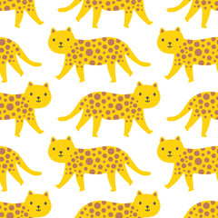 Seamless wild cat surface pattern