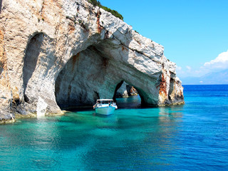 Fototapeta Blue caves Zakynthos obraz