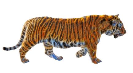 fractal picture of Amur tiger