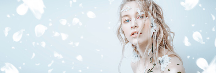 sensual blonde young woman