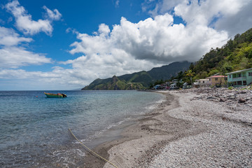 Scotts Head Views around the caribbean island of Dominica West indies
