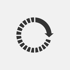 Restart vector icon illustration sign