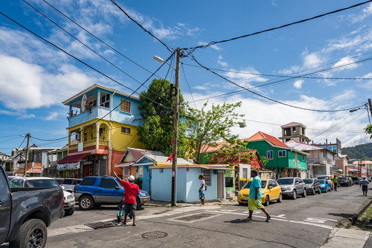 Roseau market -Views around the caribbean island of Dominica West indies