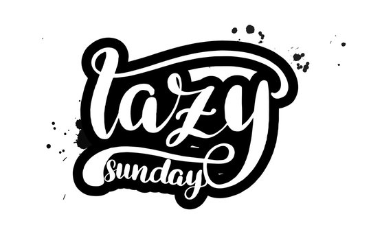 lettering lazy sunday