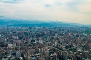 台湾 台北市街地航空写真