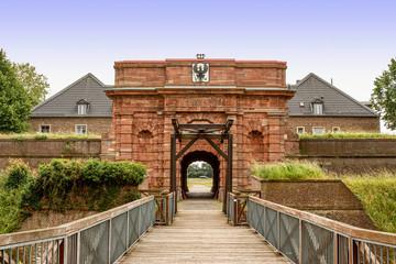 Tor und Zugbrücke der Zitadelle in Wesel