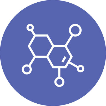 Chemical Compound Molecular Outline Icon