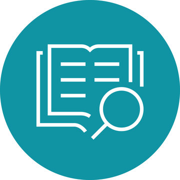 Search Book Research Outline Icon