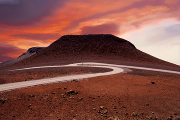 view of Haleakala Volcano in Maui at sunrise