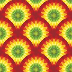 Sunshine seamless pattern in reggae music colors