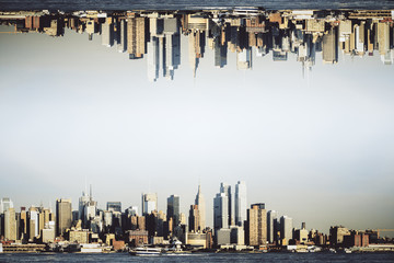 Wall Mural - City skyline backdrop