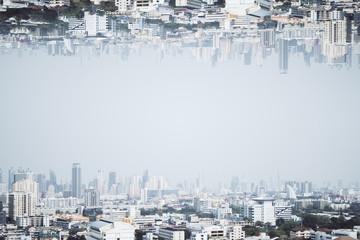 Fototapete - City skyline texture