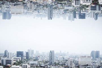 Fototapete - City skyline wallpaper