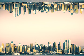 Wall Mural - City skyline background
