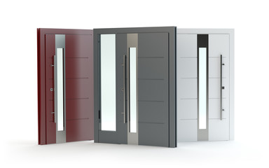 Front doors collection, 3D illustration