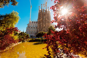 Sagrada Familia in Barcelona Spain