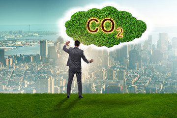 Ecological concept of greenhouse gas emissions