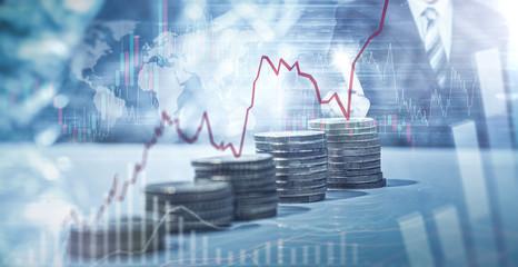 Geld - Aktien - Anlage Fototapete