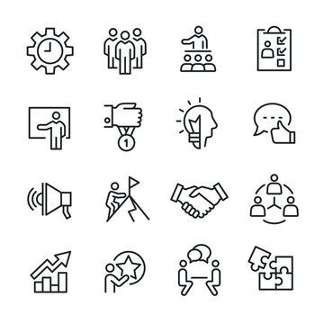 Business Consulting - Line Icons Set