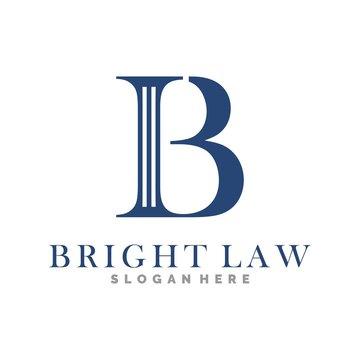 letter B and law logo illustration