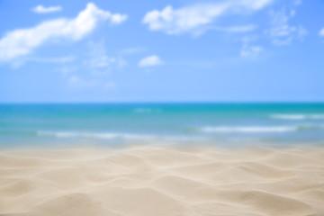 Beach blue ocean and sky background ,Summer Concept .