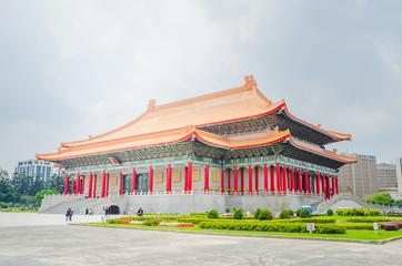 Famous National Theater Hall of Taiwan at National Taiwan Democracy Square of Chiang Kai-Shek Memorial Hall,Taipei, Taiwan Wall mural