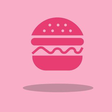 Burger vector icon illustration sign
