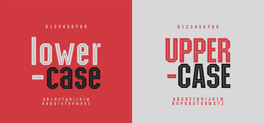 Sport modern alphabet font and number. Typography fonts uppercase and lowercase. Urban college simple style. vector illustration