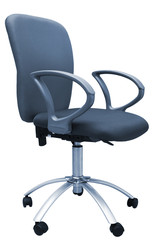 blue chair for office on white background