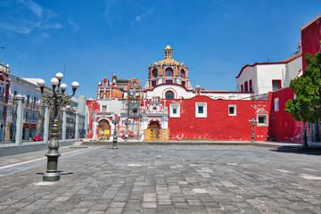 Puebla, Mexico-April 14, 2018: Santo Domingo Temple and Capilla del Rosario Church close to Zocalo historic city center Fototapete
